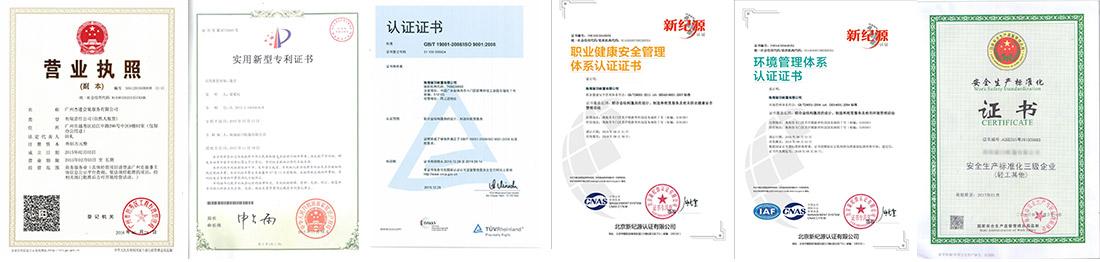 公司荣誉资质证书